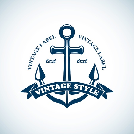 boating: vintage nautical emblem