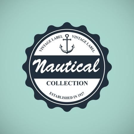 boating: vintage nautical emblem