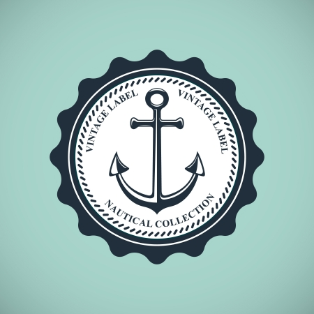 nautical: vintage nautical emblem