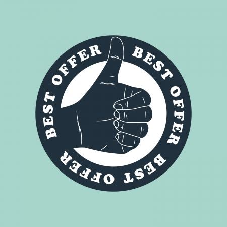 excellent: best offer label Illustration