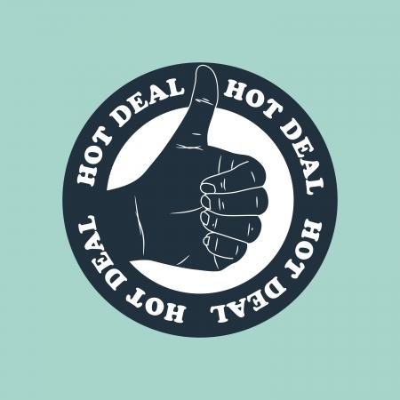 good deal: hot deal label