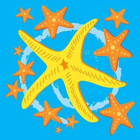 starfish background Vector