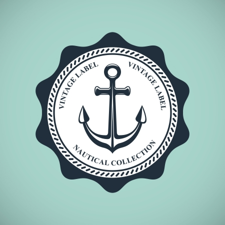 vintage nautical emblem Vector
