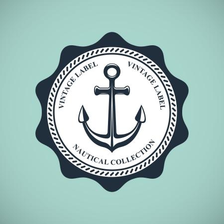 Vintage nautischen Emblem Standard-Bild - 18538861