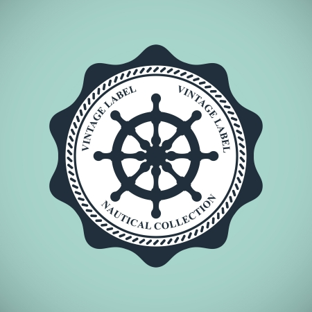 vintage nautical emblem Stock Vector - 18538849