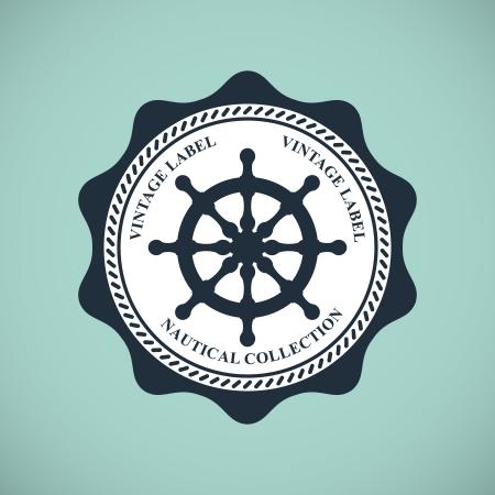 Vintage nautischen Emblem Standard-Bild - 18538849