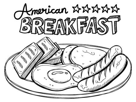 American breakfast Stock Vector - 18959536