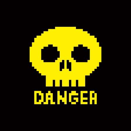 skull icon: 8-bit skull icon Illustration