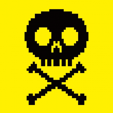 skull icon: 8-bit skull icon Illustration