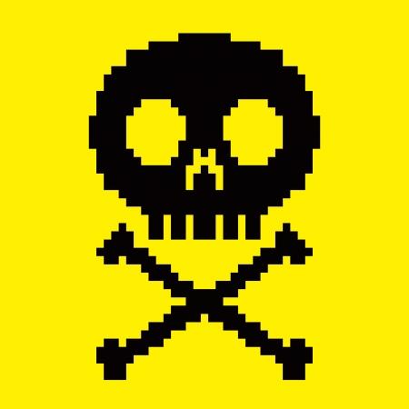8bit: Icona cranio 8-bit