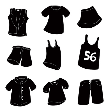 black boy: set of clothing icon Illustration