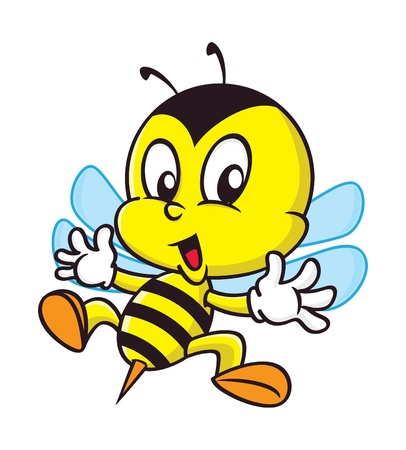 cute bee: cartoon bee