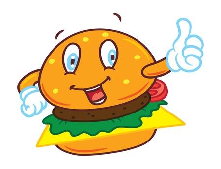 comida americana: dibujos animados hamburguesa