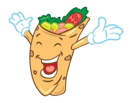 kebab: Cartoon burrito