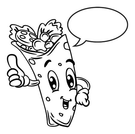 Tacos mexicanos dibujados - Imagui