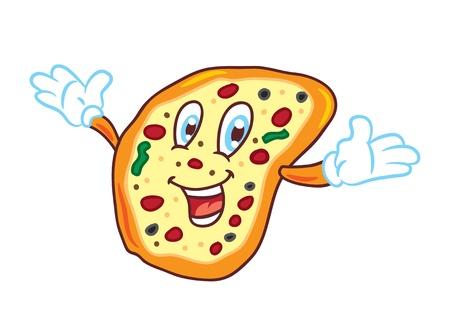 cartoon pizza: Cartoon pizza
