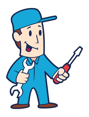 Cartoon repairman Vector