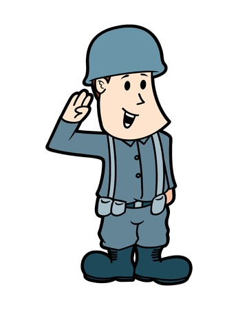 Cartoon soldier Vetores