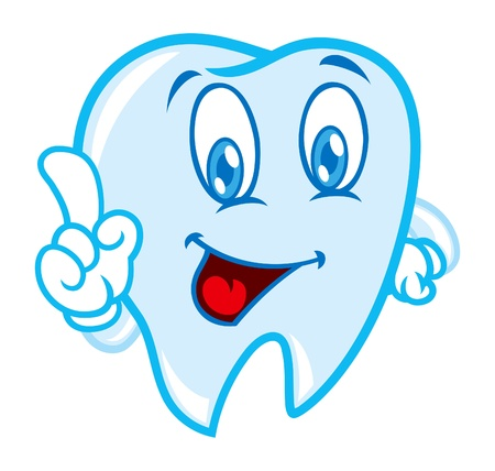 tooth cleaning: Cartoon tooth Illustration