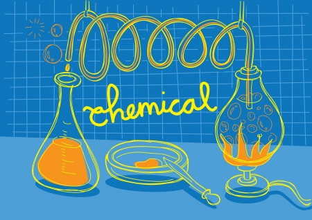 Chemistry research Vector