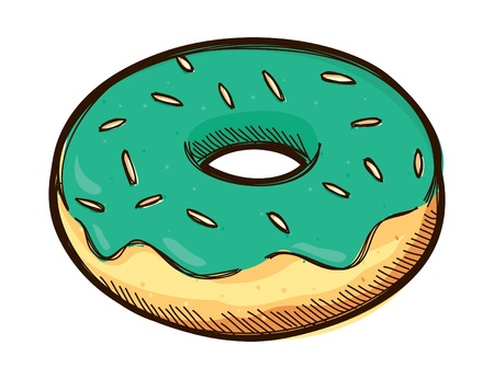 Sketchy donut doodle Vector