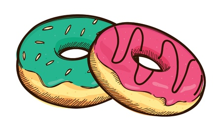 fast drawing: Stack of donut