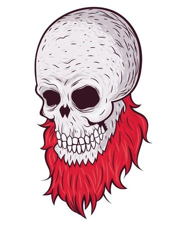 Skull with beard Stock Vector - 19904333