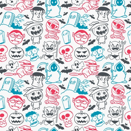 Halloween seamless pattern Stock Vector - 19890501