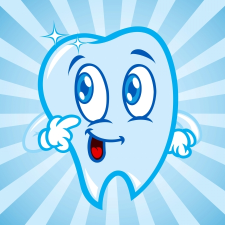 cartoon tooth: Cartoon teeth Illustration