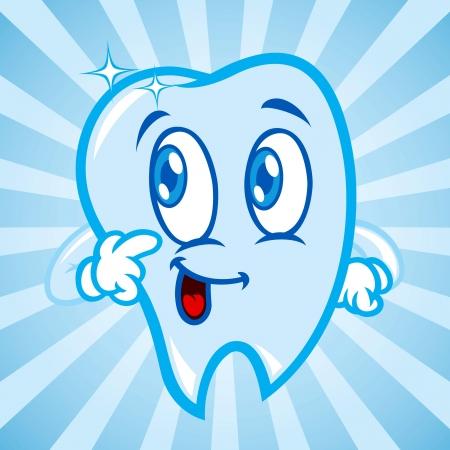 dientes caricatura: Dientes de la historieta Vectores