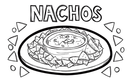 unhealthy food: Nachos cartoon Illustration
