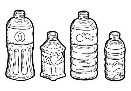 grunge bottle: Set of bottle