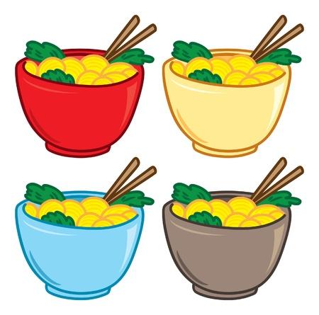 Cartoon noodle