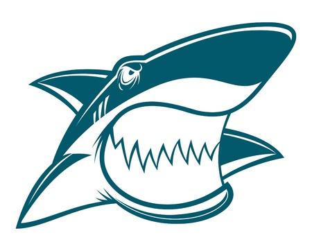 jaw: Shark mascot Illustration