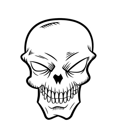 cartoon skull Illustration