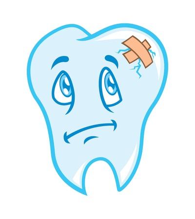 toothache: cartoon toothache