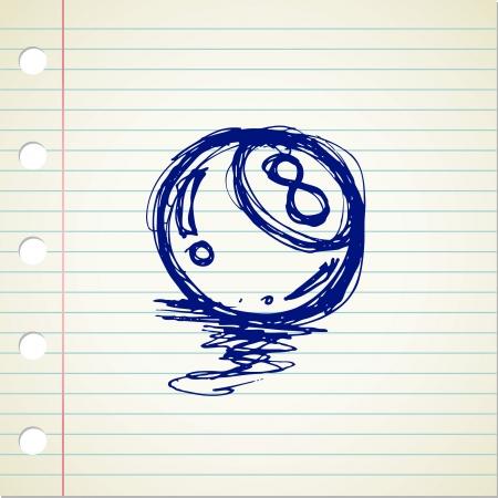 8 ball doodle Stock Vector - 21522912