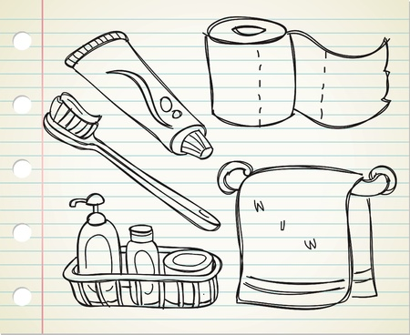 bathroom stuff Vector