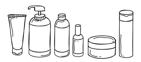 shampoo bottle: blank bottle doodle