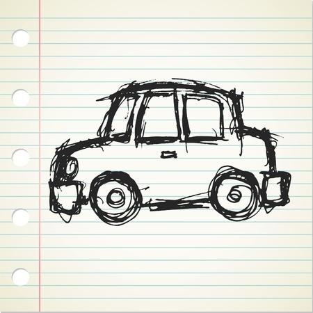 car outline: cartoon car doodle