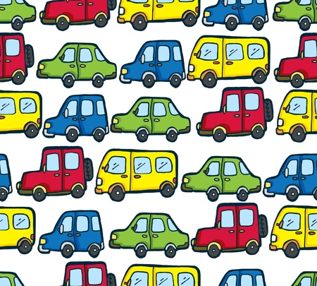 cartoon car pattern Vector