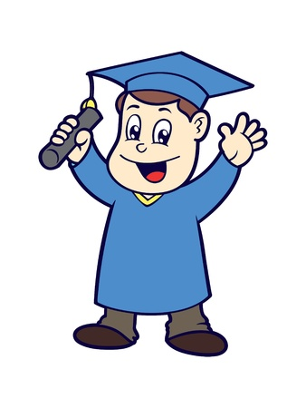cartoon graduation Vector