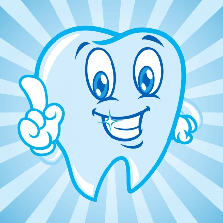 cartoon teeth with background Vector