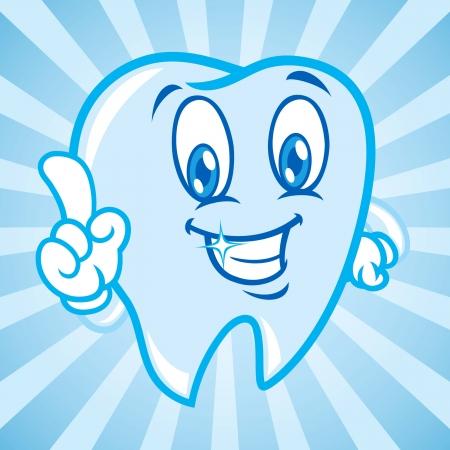 dentist smile: cartoon teeth with background Illustration