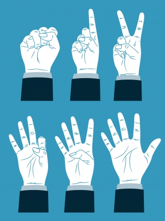 number five: counting hand