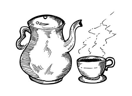 teacups: sketchy cup of tea
