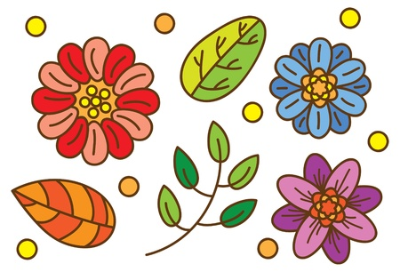 cute floral design  Vector