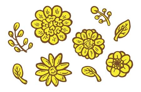 cute graphic:  cute flower decorative element doodle