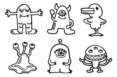 pattern monster: modello sveglio mostro Vettoriali