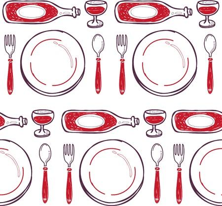 dinner pattern Vector